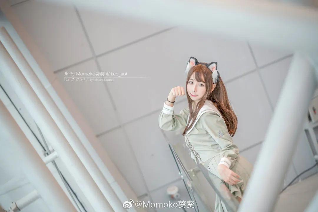 妹子摄影 – 猫耳JK制服美腿控少女@@Momoko葵葵_图片 No.1