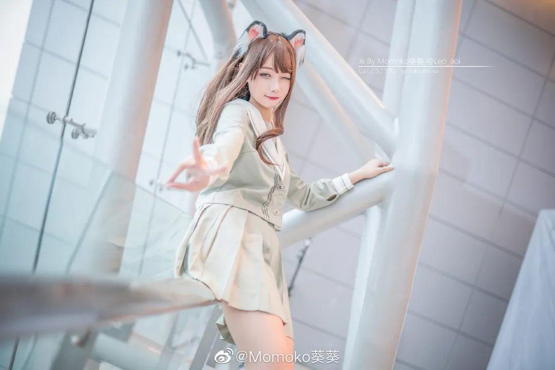 妹子摄影 – 猫耳JK制服美腿控少女@@Momoko葵葵_图片 No.2