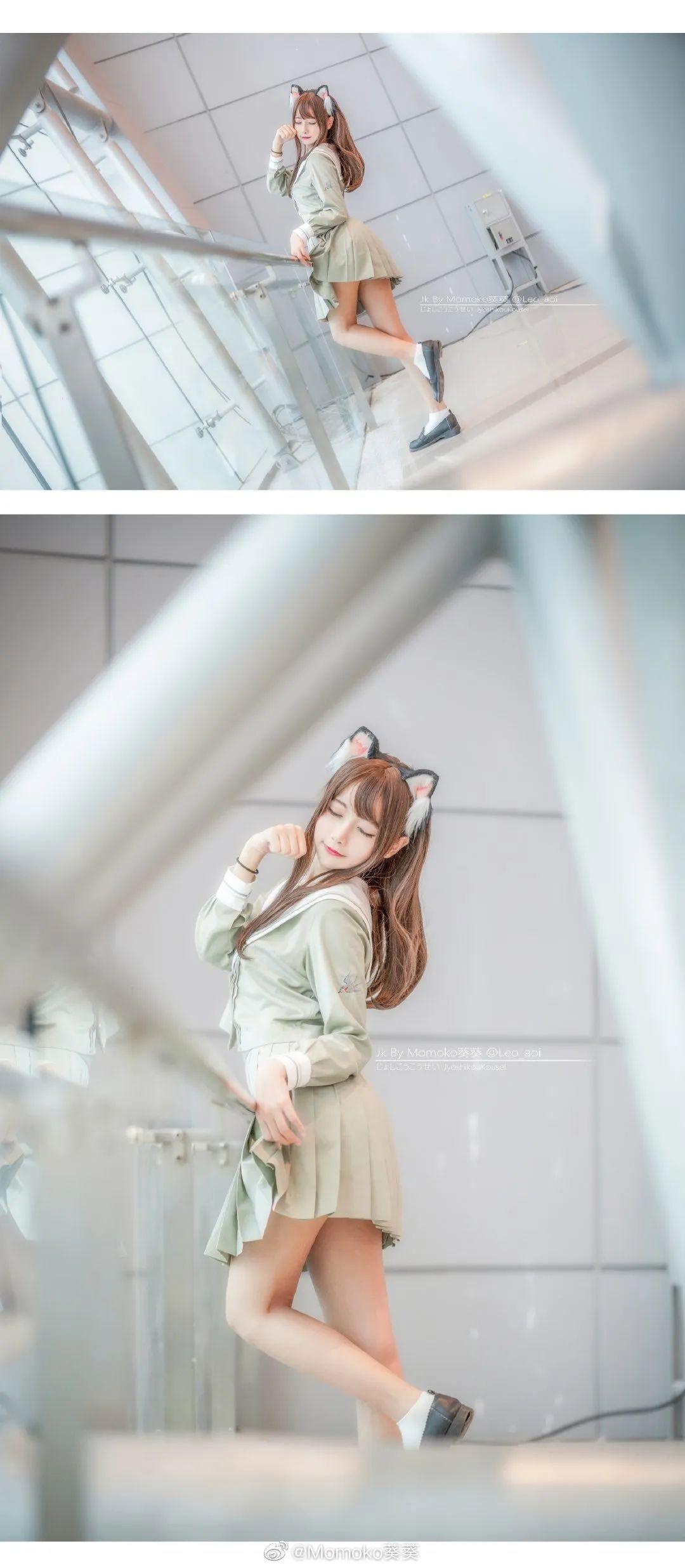 妹子摄影 – 猫耳JK制服美腿控少女@@Momoko葵葵_图片 No.9