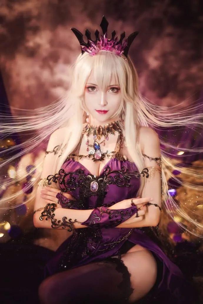 cosplay – FGO黑枪呆!@奶狮_,绝代女王晚礼服,让你无法拒绝! - [mn233.com] No.1