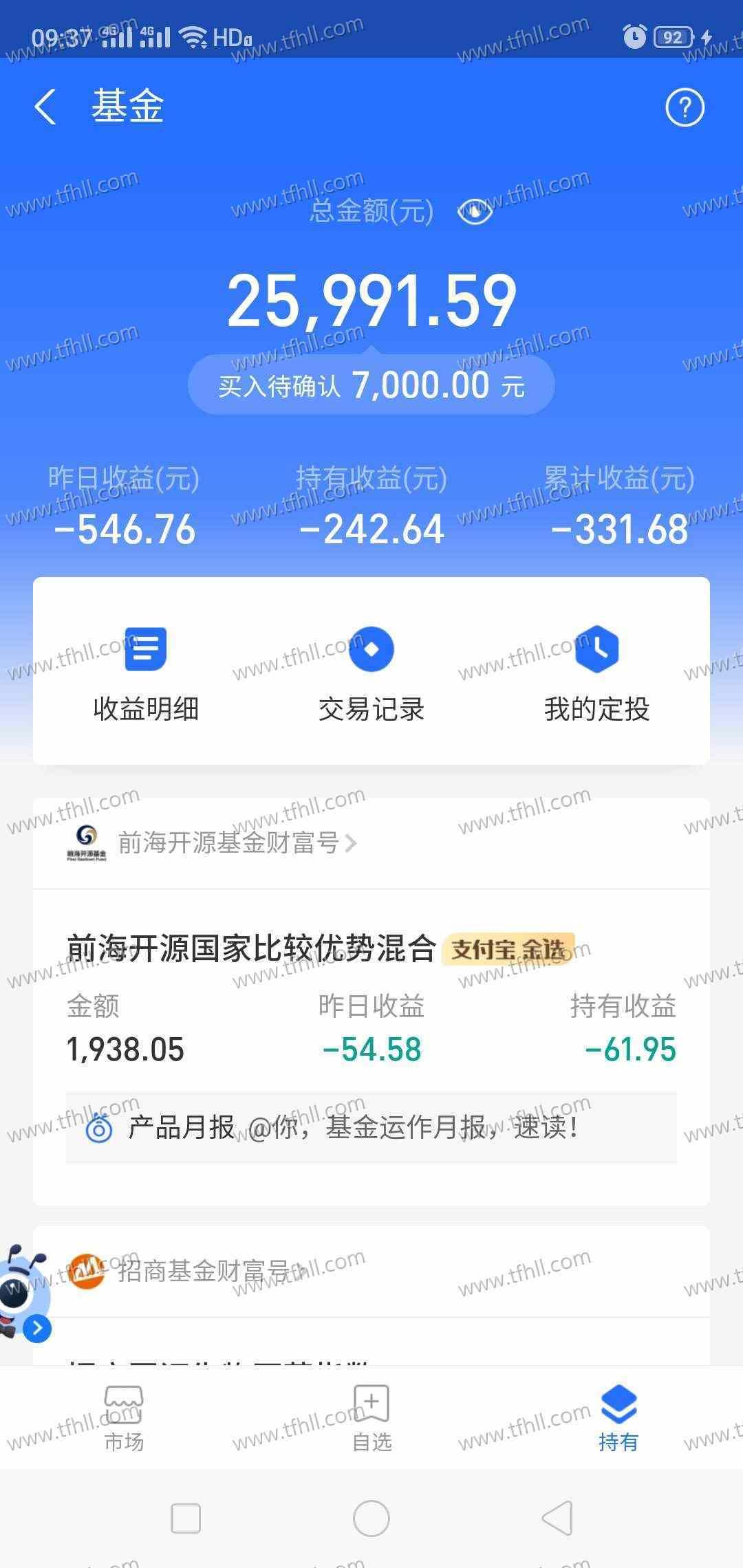 8月19日,基金全线狂跌3个点,1.8万的本损失500多图片