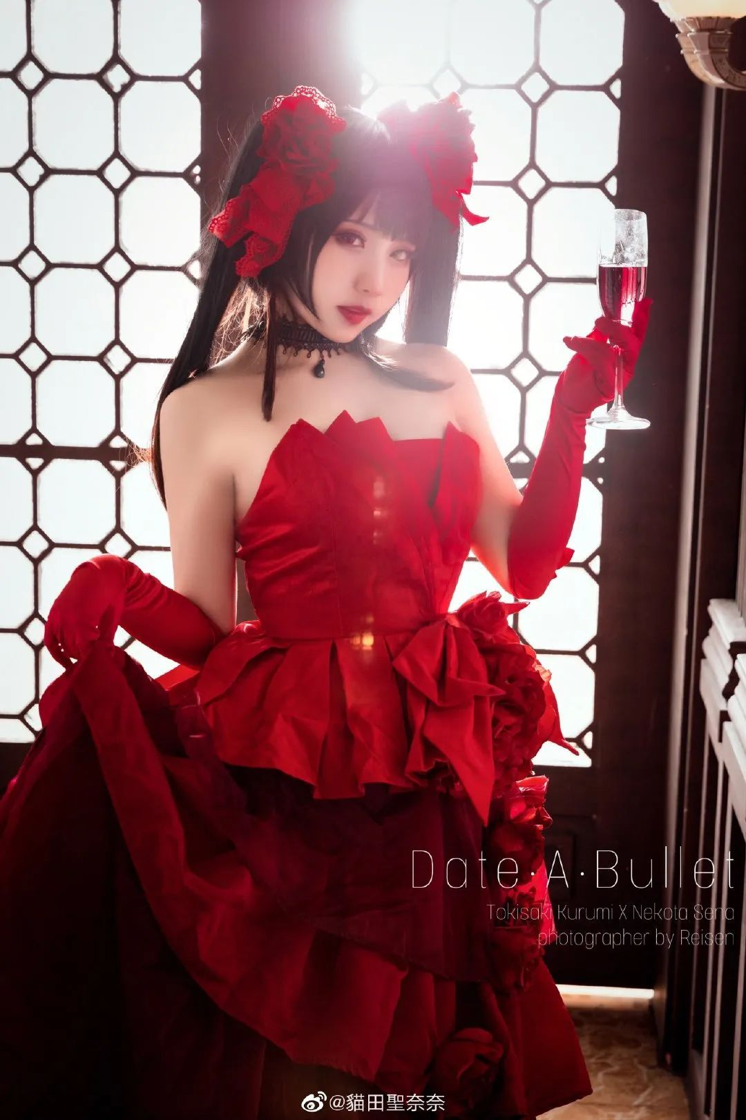 [狂三cosplay]《约会大作战》灵装 时崎狂三(cn:貓田聖奈),肉肉的小姐姐也很美艳_图片 No.1