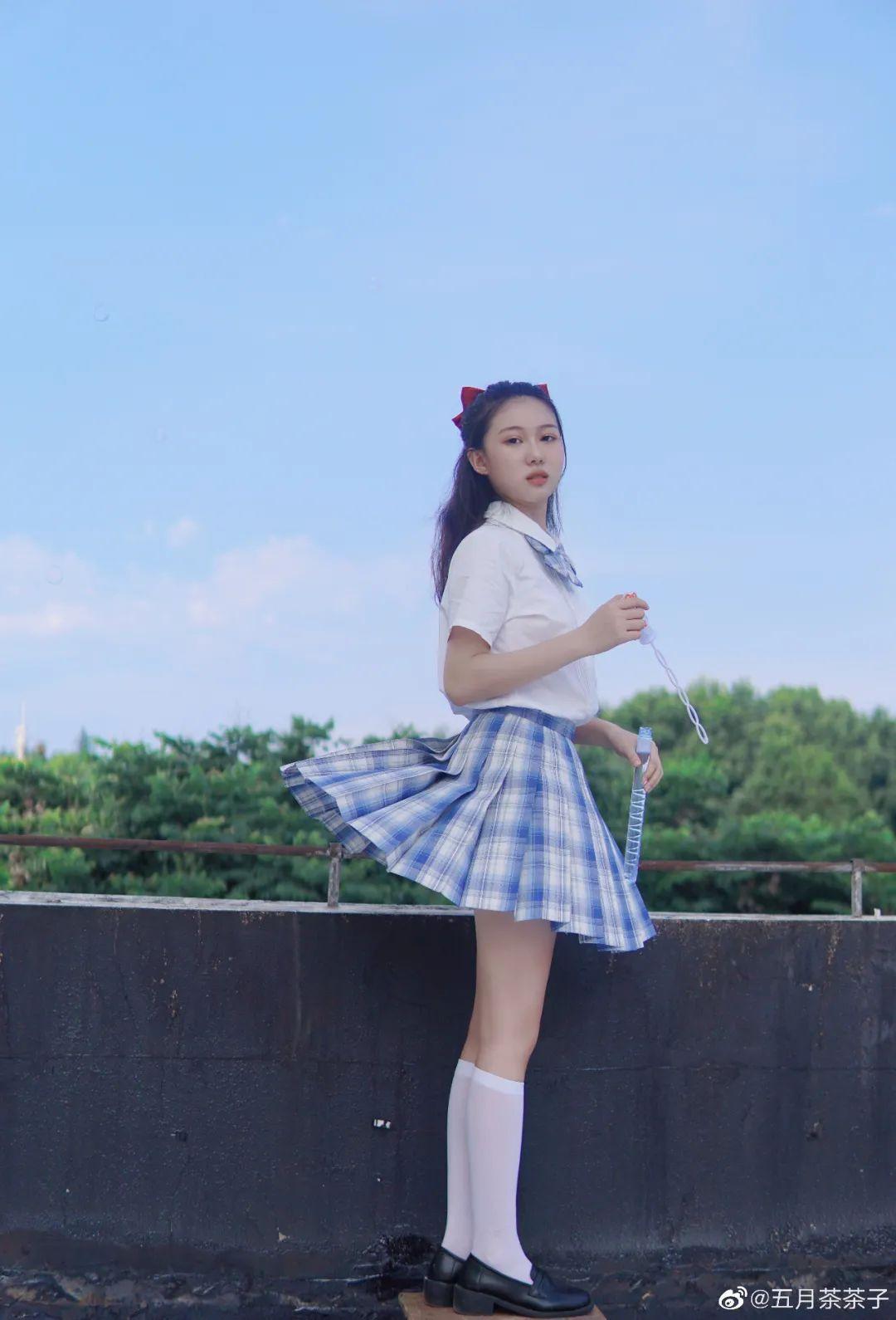 妹子摄影 – JK制服白丝学妹_图片 No.6