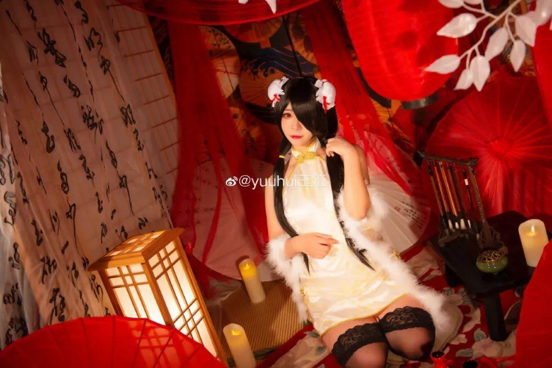 [狂三cosplay]《约会大作战》时崎狂三cos(cn:yuuhui玉汇),双马尾旗袍好温柔啊!_图片 No.4