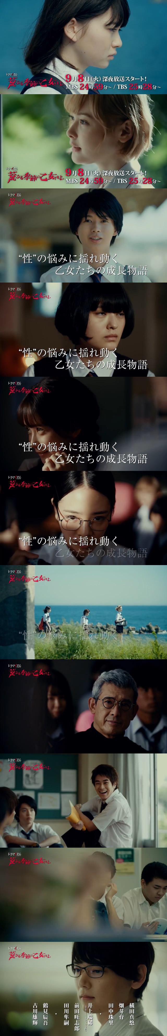 让人羞涩的动漫改编真人日剧《骚动时节的少女们啊。》公开预告,将于9月8日开播。_图片 No.1