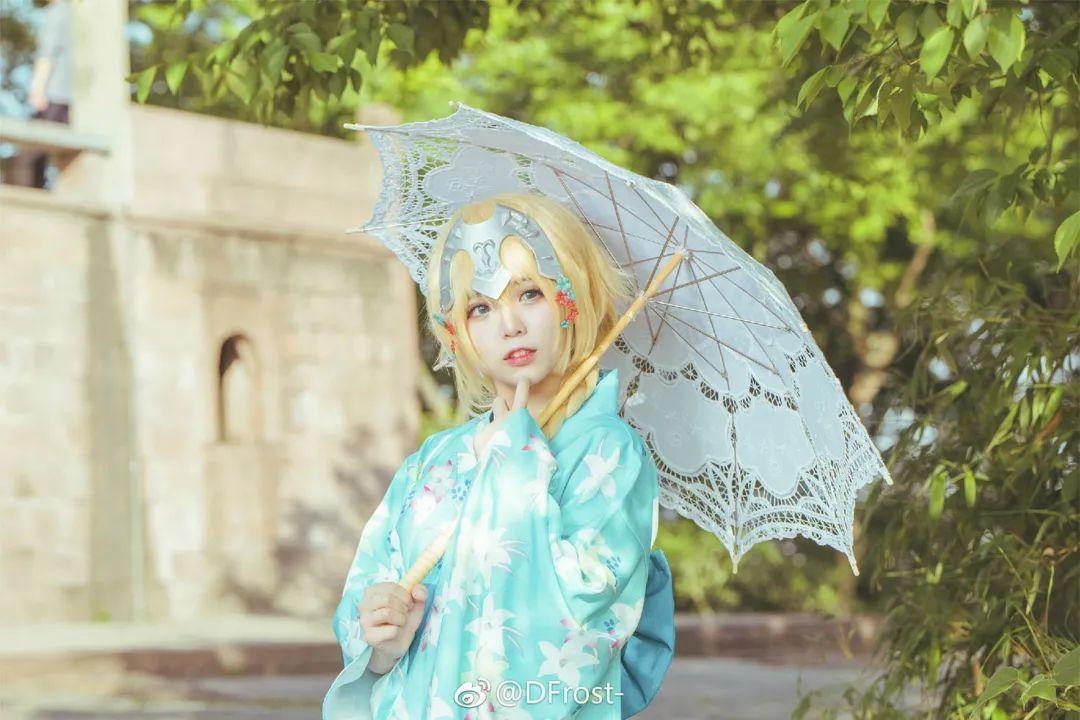 cosplay – 《Fate/Grand Orde》贞德(@DFrost-),和服少女_图片 No.7