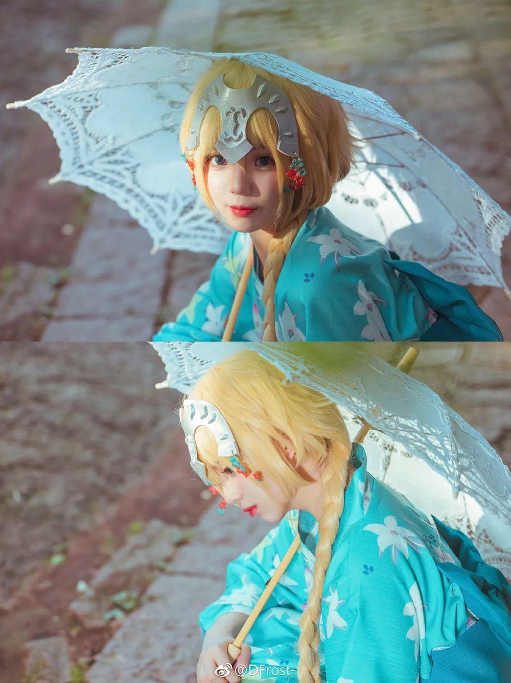 cosplay – 《Fate/Grand Orde》贞德(@DFrost-),和服少女_图片 No.8