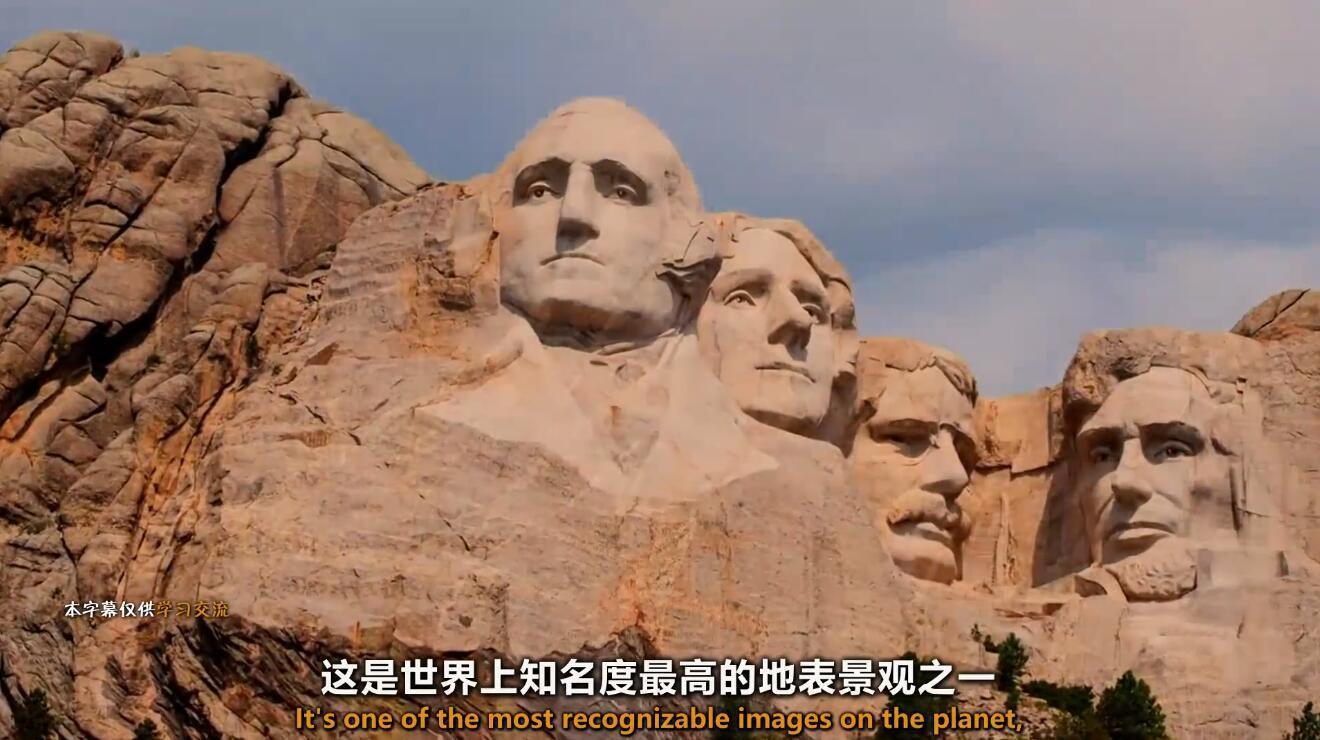 【英语中英字幕】雕刻着美国最伟大4位总统的地方:揭秘拉什莫尔山不为人知的奥秘 全1集【1080p】图片