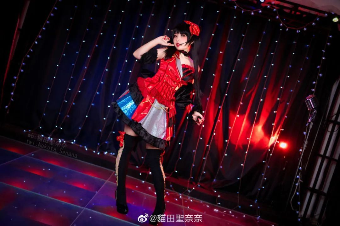[狂三cosplay]《约会大作战》时崎狂三(cn:貓田聖奈奈),这只三三过于甜美_图片 No.5