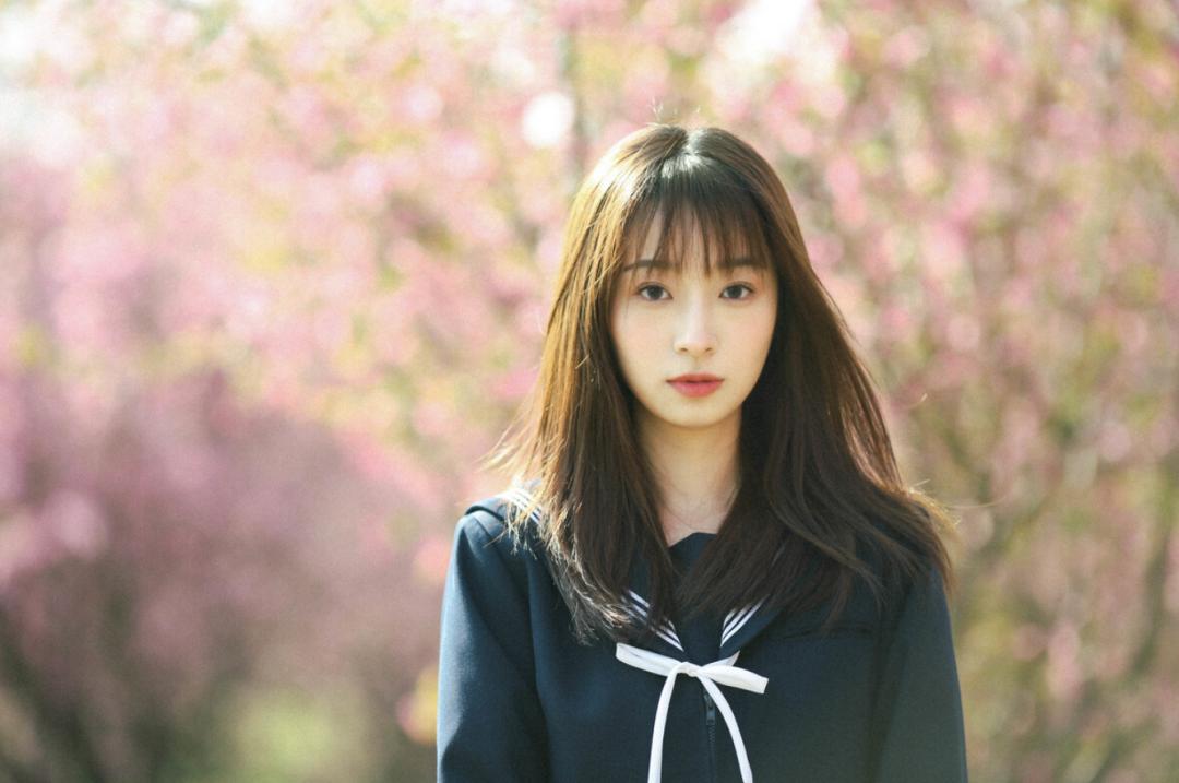 妹子摄影 – JK制服少女比樱花更绚烂_图片 No.7