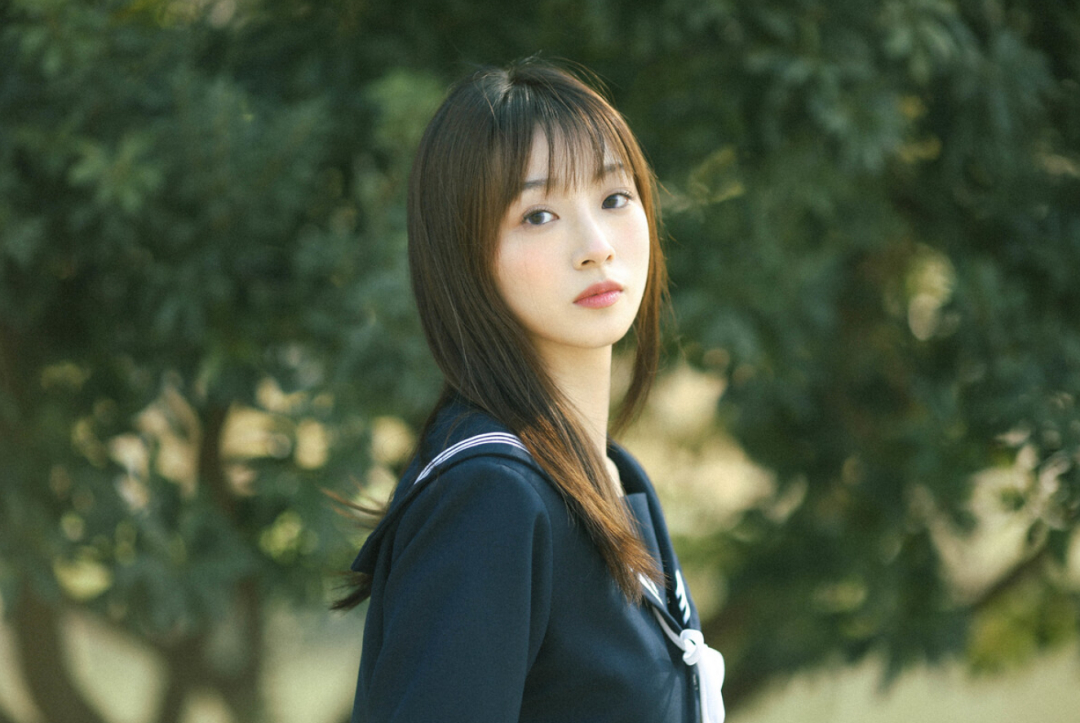 妹子摄影 – JK制服少女比樱花更绚烂_图片 No.9