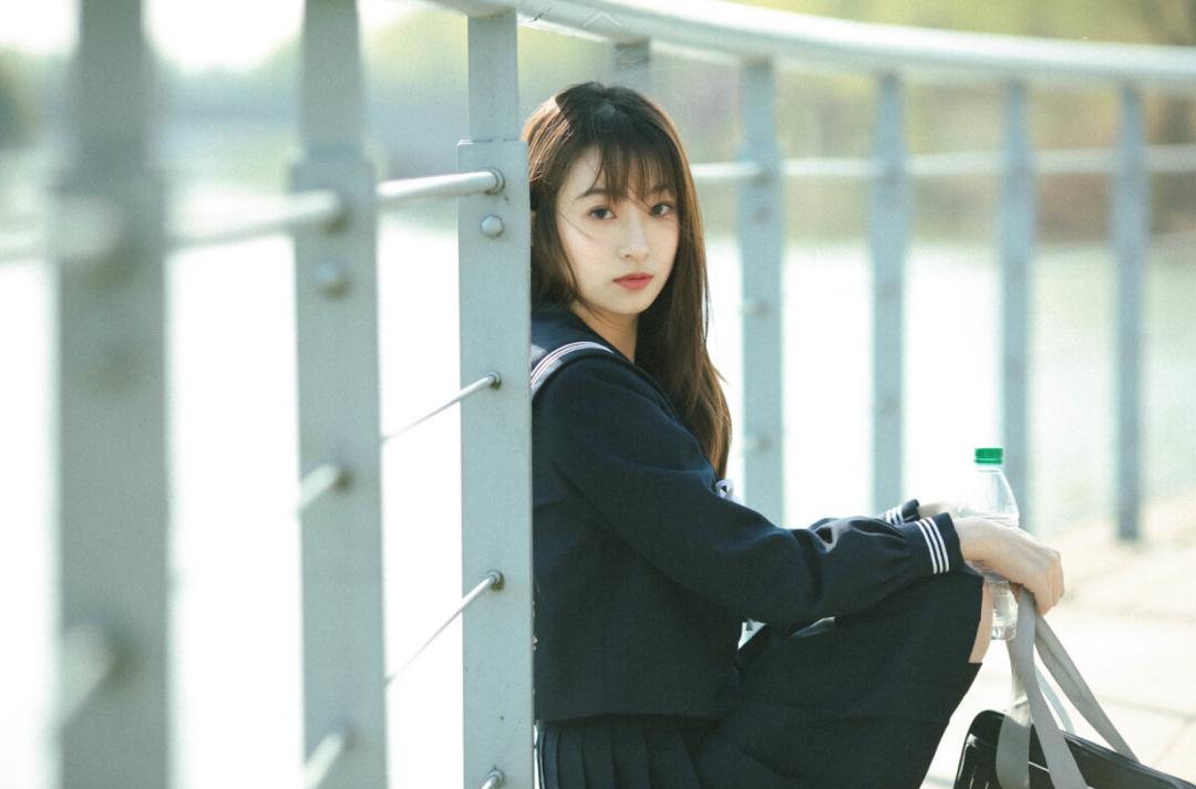 妹子摄影 – JK制服少女比樱花更绚烂_图片 No.11