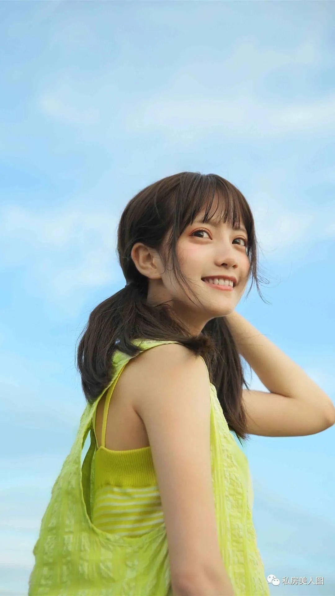 妹子摄影 – 双马尾连衣裙甜美少女的海边日记_图片 No.2