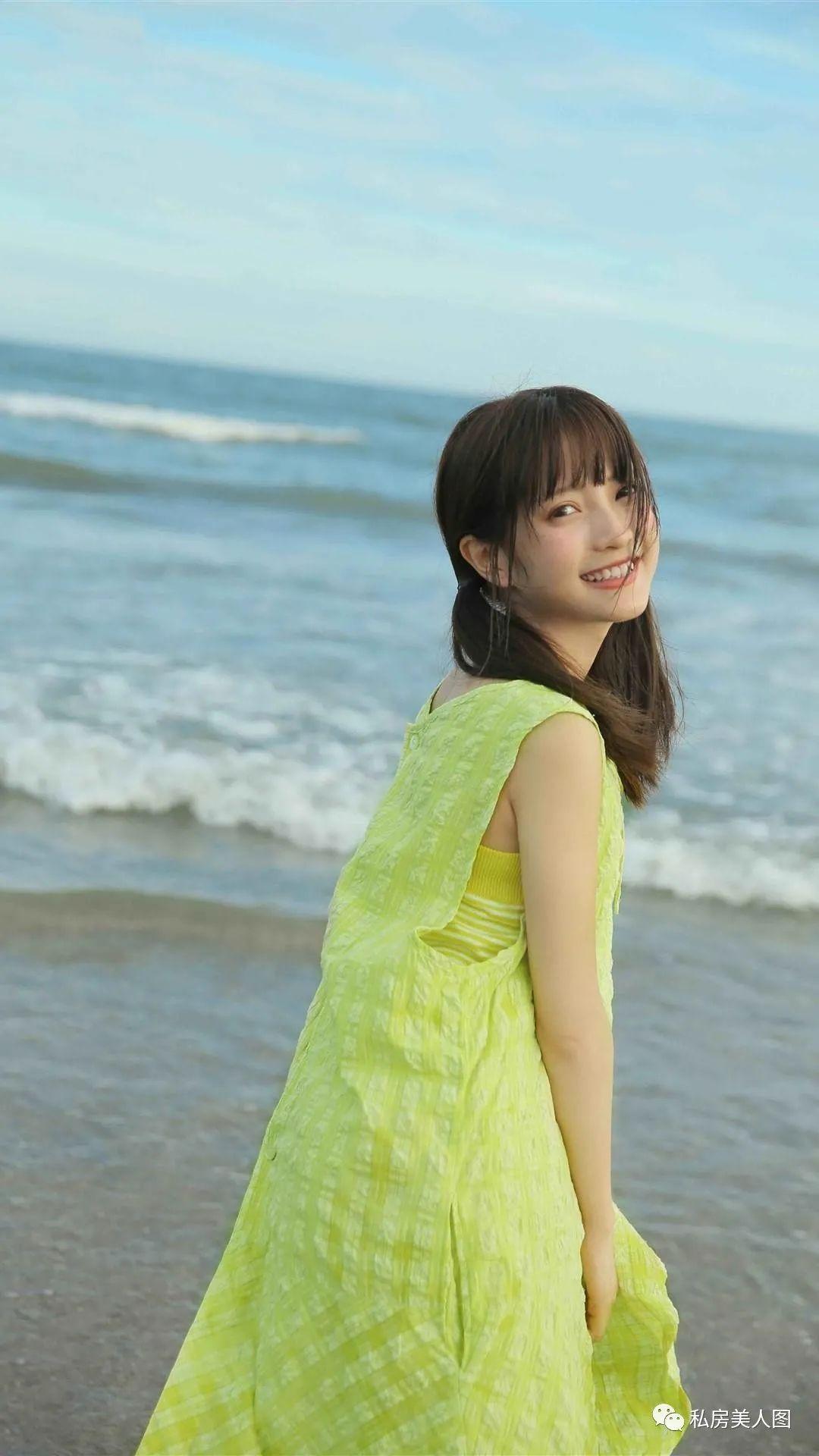 妹子摄影 – 双马尾连衣裙甜美少女的海边日记_图片 No.3