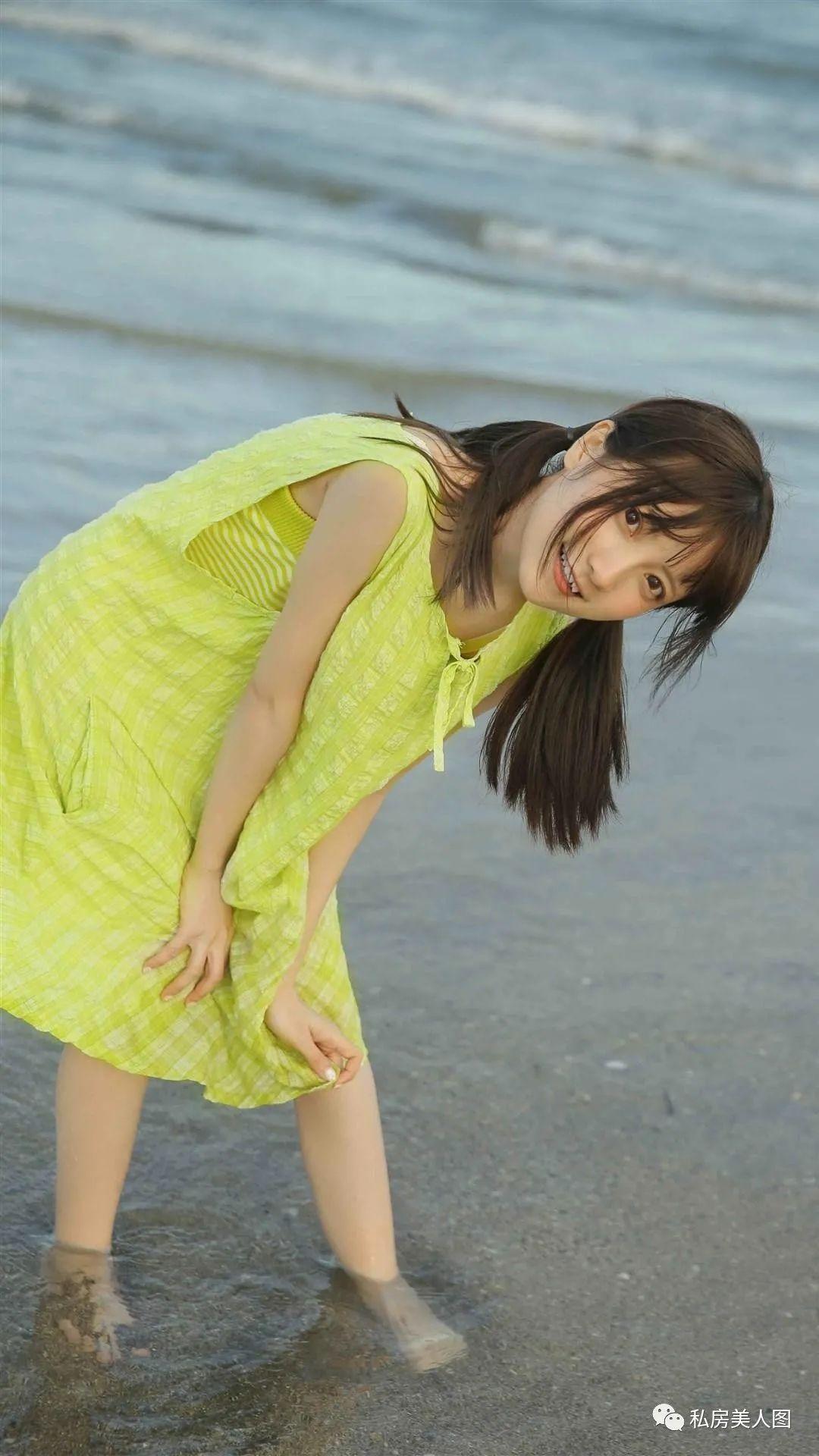 妹子摄影 – 双马尾连衣裙甜美少女的海边日记_图片 No.4