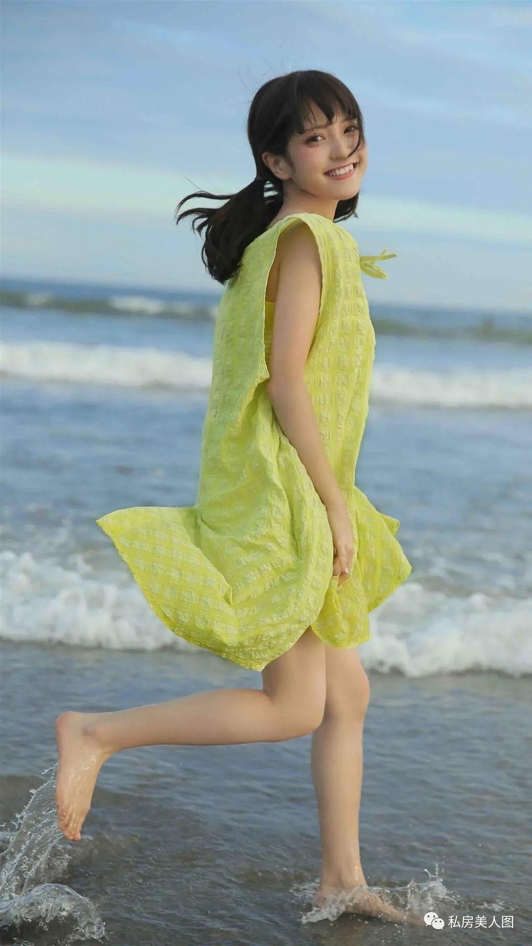 妹子摄影 – 双马尾连衣裙甜美少女的海边日记_图片 No.5