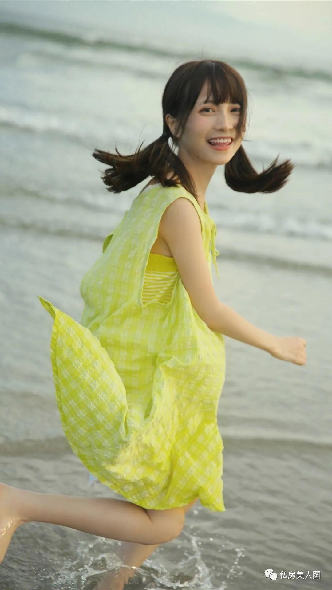 妹子摄影 – 双马尾连衣裙甜美少女的海边日记_图片 No.6