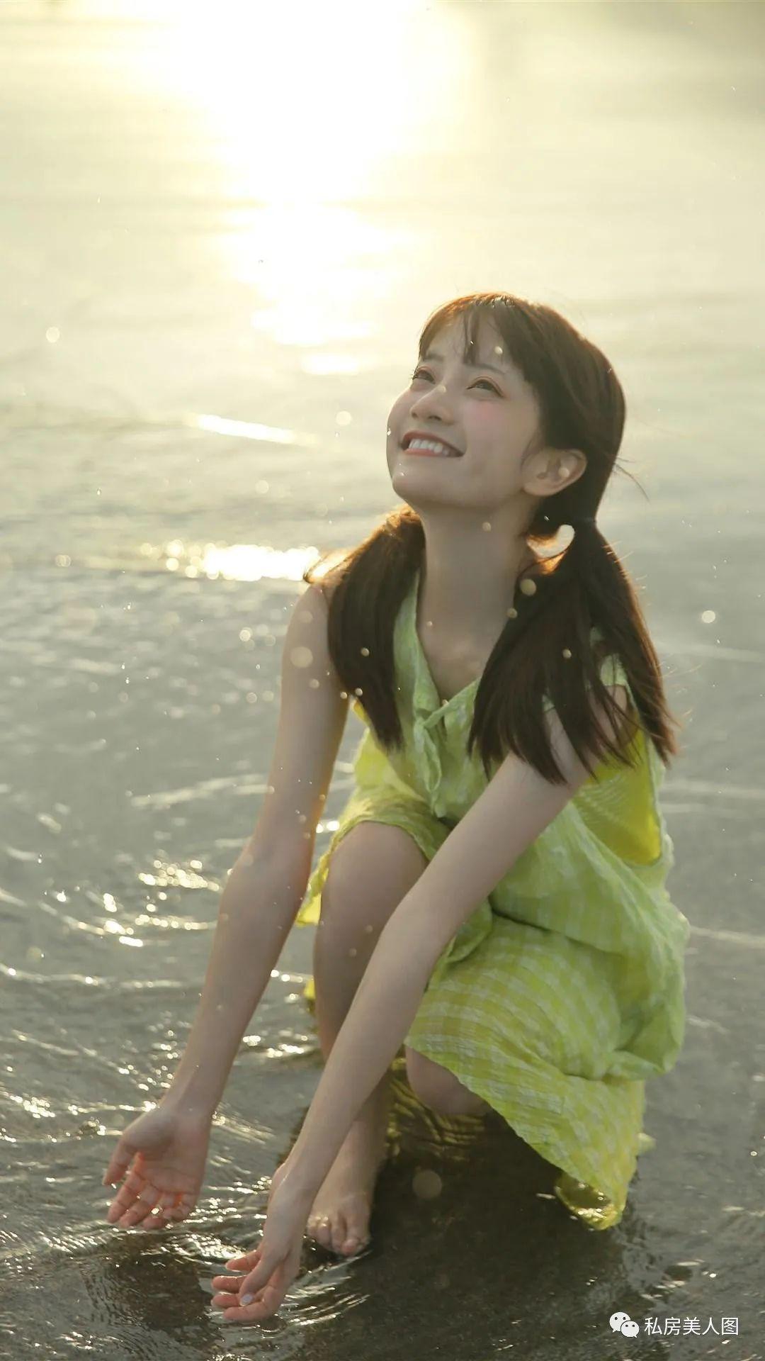 妹子摄影 – 双马尾连衣裙甜美少女的海边日记_图片 No.7