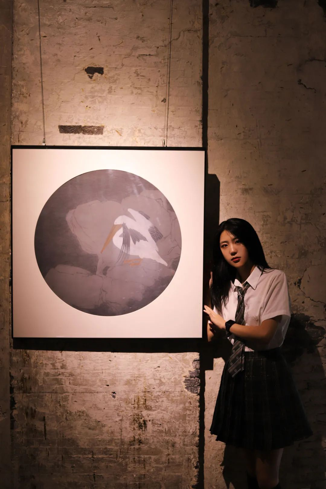 妹子摄影 – JK制服高颜值学姐 黑丝绝对领域_图片 No.4