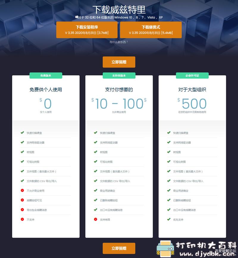 [Windows]大文件查找分析工具 WizTree v3.35 中文免安装版 免费版 配图 No.1