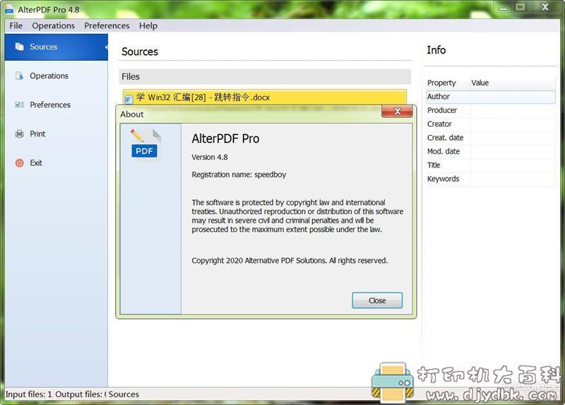 [Windows]PDF编辑器 AlterPDF Pro 4.8,支持格式转换 配图