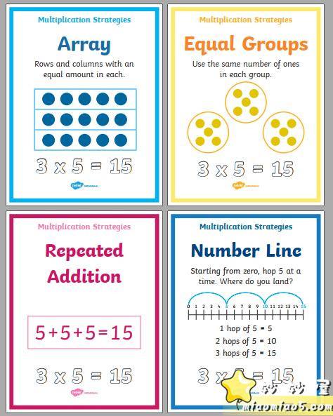 孩子学乘法枯燥又困难怎么办?分享一款来自外网的趣味学习资料:花样乘法数学资料图片 No.6