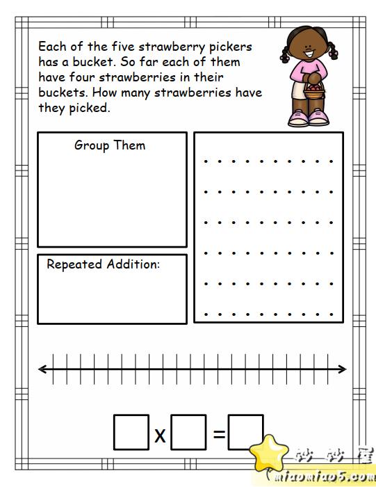 孩子学乘法枯燥又困难怎么办?分享一款来自外网的趣味学习资料:花样乘法数学资料图片 No.10