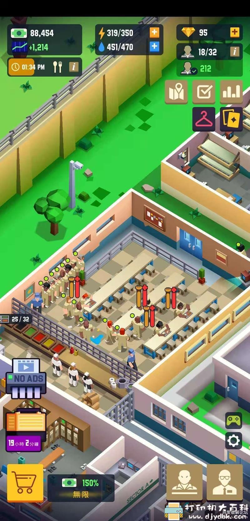安卓游戏分享:【模拟经营】监狱帝国大亨 2.2.0 中文版 Prison Empire Tycoon 无限钞票/钻石 配图 No.2