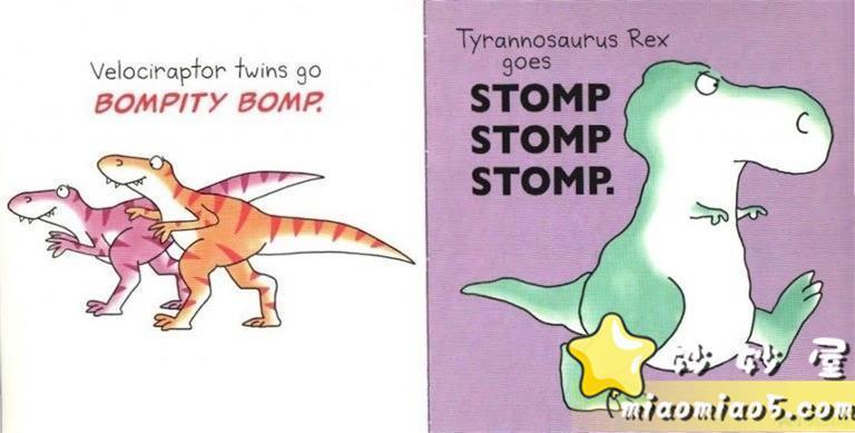 【中英双语绘本】恐龙主题英文儿童绘本:跳舞的恐龙 Dinosaur Dance 精美插画+中英对话图片 No.4