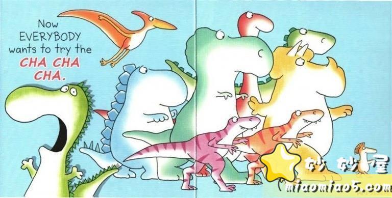 【中英双语绘本】恐龙主题英文儿童绘本:跳舞的恐龙 Dinosaur Dance 精美插画+中英对话图片 No.6