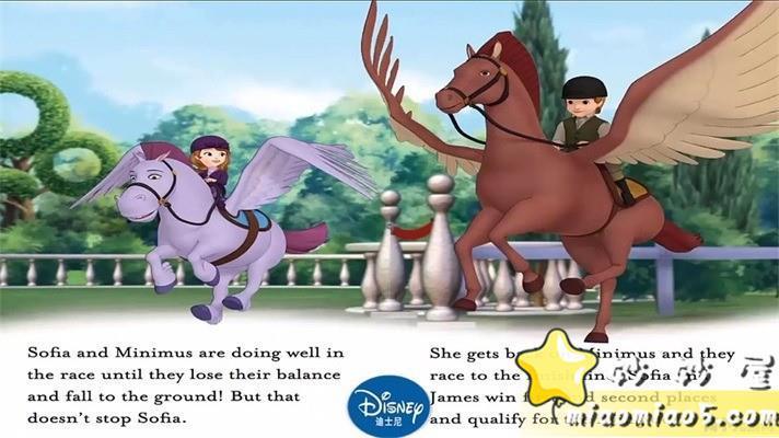 【中英双语绘本】小公主苏菲亚 主题英文绘本:皇家乐趣 Royal Fun精英插画+中英台词图片 No.3
