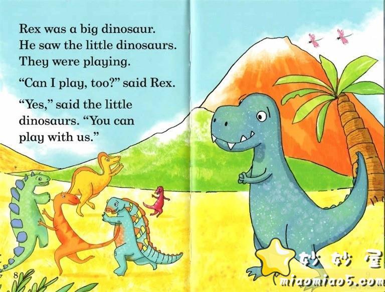 【双语绘本】恐龙主题儿童英文绘本 基础级:大恐龙雷克斯 Rex the Big Dinosaur 带精美插画图片 No.2