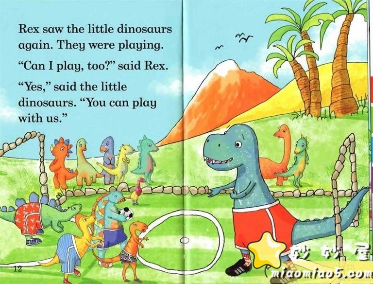 【双语绘本】恐龙主题儿童英文绘本 基础级:大恐龙雷克斯 Rex the Big Dinosaur 带精美插画图片 No.4