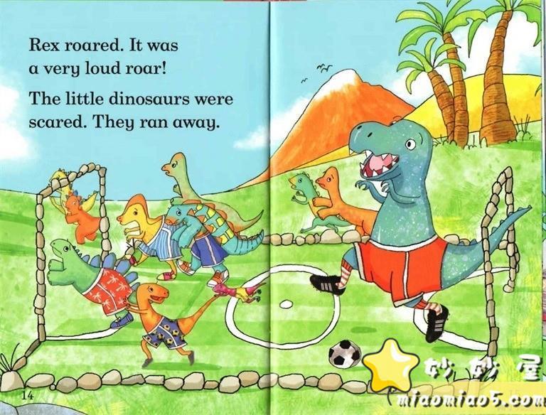 【双语绘本】恐龙主题儿童英文绘本 基础级:大恐龙雷克斯 Rex the Big Dinosaur 带精美插画图片 No.5