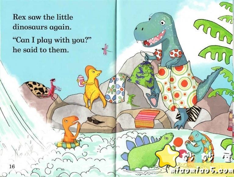 【双语绘本】恐龙主题儿童英文绘本 基础级:大恐龙雷克斯 Rex the Big Dinosaur 带精美插画图片 No.6