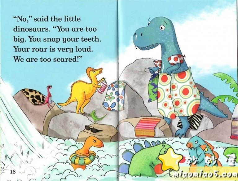 【双语绘本】恐龙主题儿童英文绘本 基础级:大恐龙雷克斯 Rex the Big Dinosaur 带精美插画图片 No.7