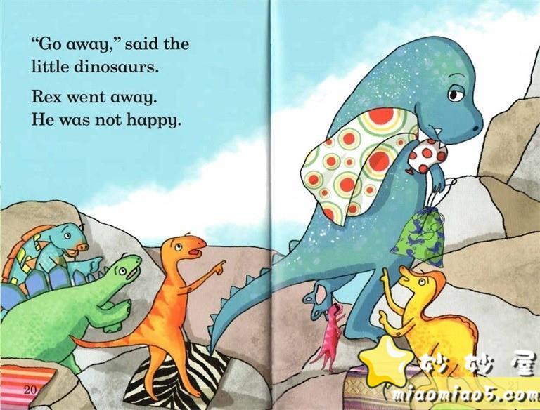 【双语绘本】恐龙主题儿童英文绘本 基础级:大恐龙雷克斯 Rex the Big Dinosaur 带精美插画图片 No.8