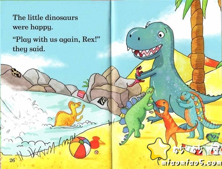 【双语绘本】恐龙主题儿童英文绘本 基础级:大恐龙雷克斯 Rex the Big Dinosaur 带精美插画图片 No.11