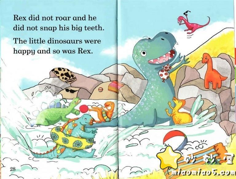 【双语绘本】恐龙主题儿童英文绘本 基础级:大恐龙雷克斯 Rex the Big Dinosaur 带精美插画图片 No.12
