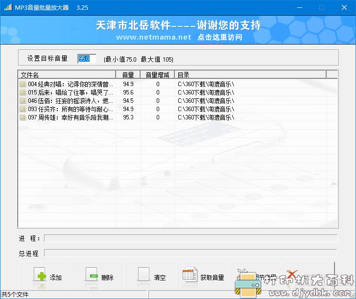 [Windows]MP3音量批量放大器3.25 绿色版(批量统一MP3音量,舒适听歌)图片 No.1