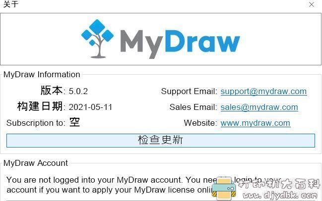 [Windows]来自国外的功能强大的思维导图软件MyDraw 5.0.2 绿色中文版 配图 No.3