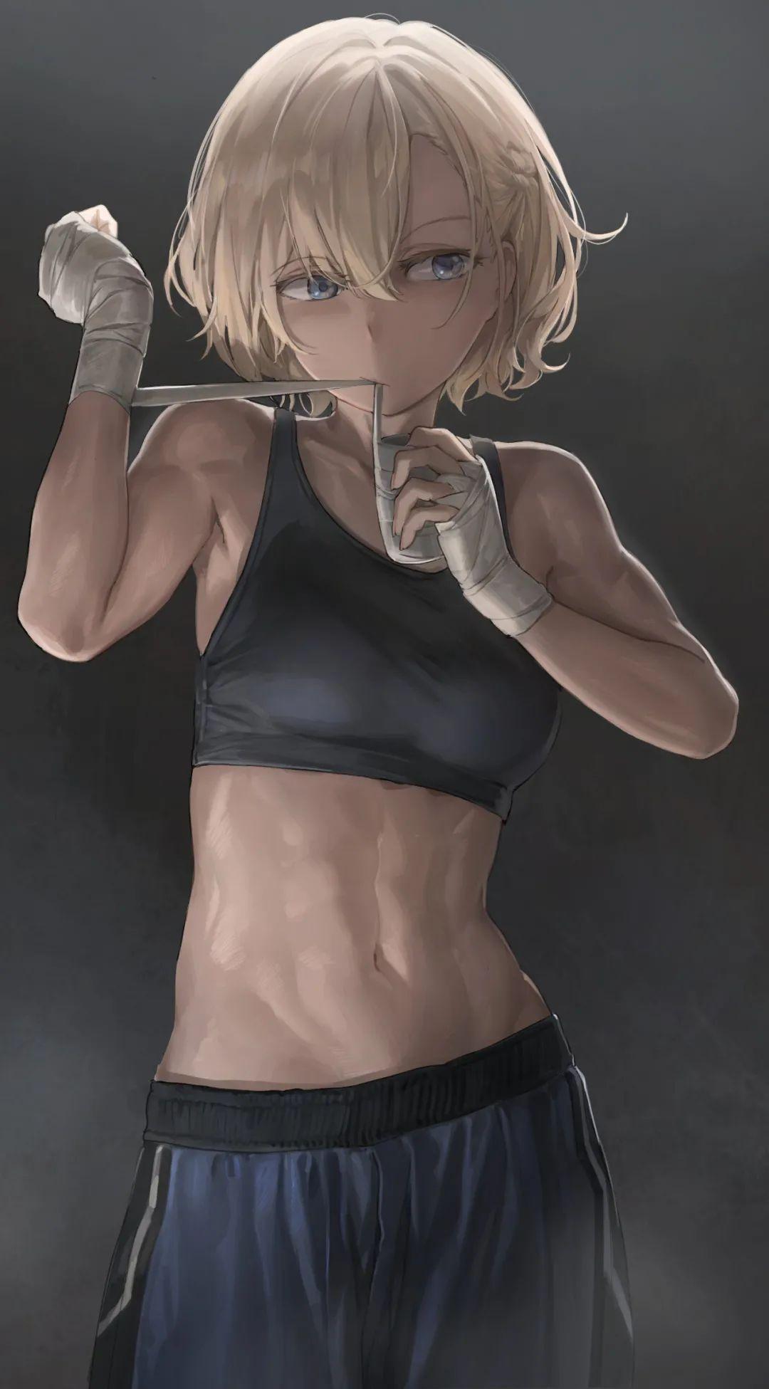 日推画师Free Style插画作品,肌肉线条感十足的妹子们_图片 No.3
