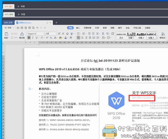 WPS Office 2019 v11.8.6.8556 政府专业版免激活(集成VBA)图片