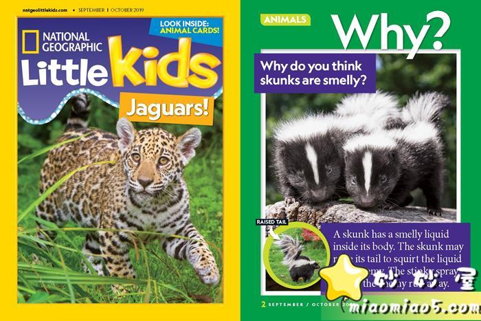 原生英文科普杂志:国家地理幼儿版 National Geographic Little Kids 最新2019年9月和10月刊图片 No.1