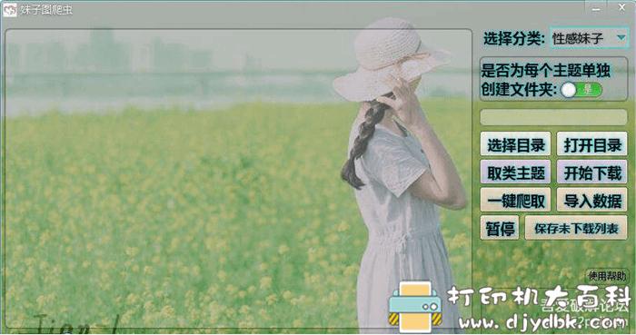 批量抓取高质量美女高清大图的小软件—子图爬虫V2图片