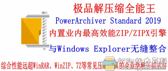 企业级解压缩工具:PowerArchiver Standard 2019(解压缩全能王)中文版V19.00.59,附补丁 配图 No.1