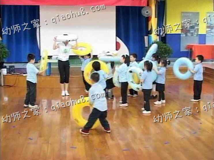 【视频+教案】幼儿园优质课 中班健康《小青蛙和游泳圈》_图片 2