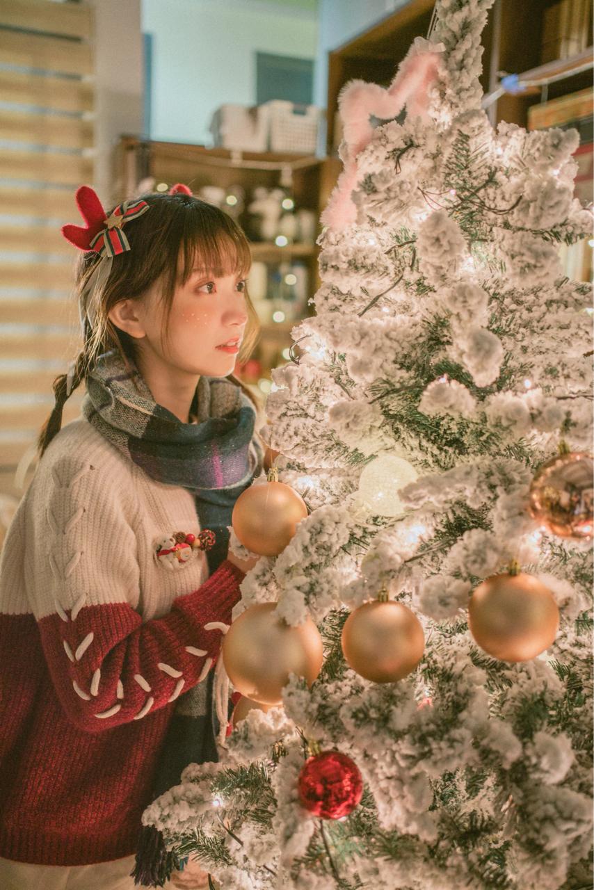 超绝可爱!bilibili美少女@醋醋cucu,来自圣诞节的驯鹿cosplay美图_图片 No.2
