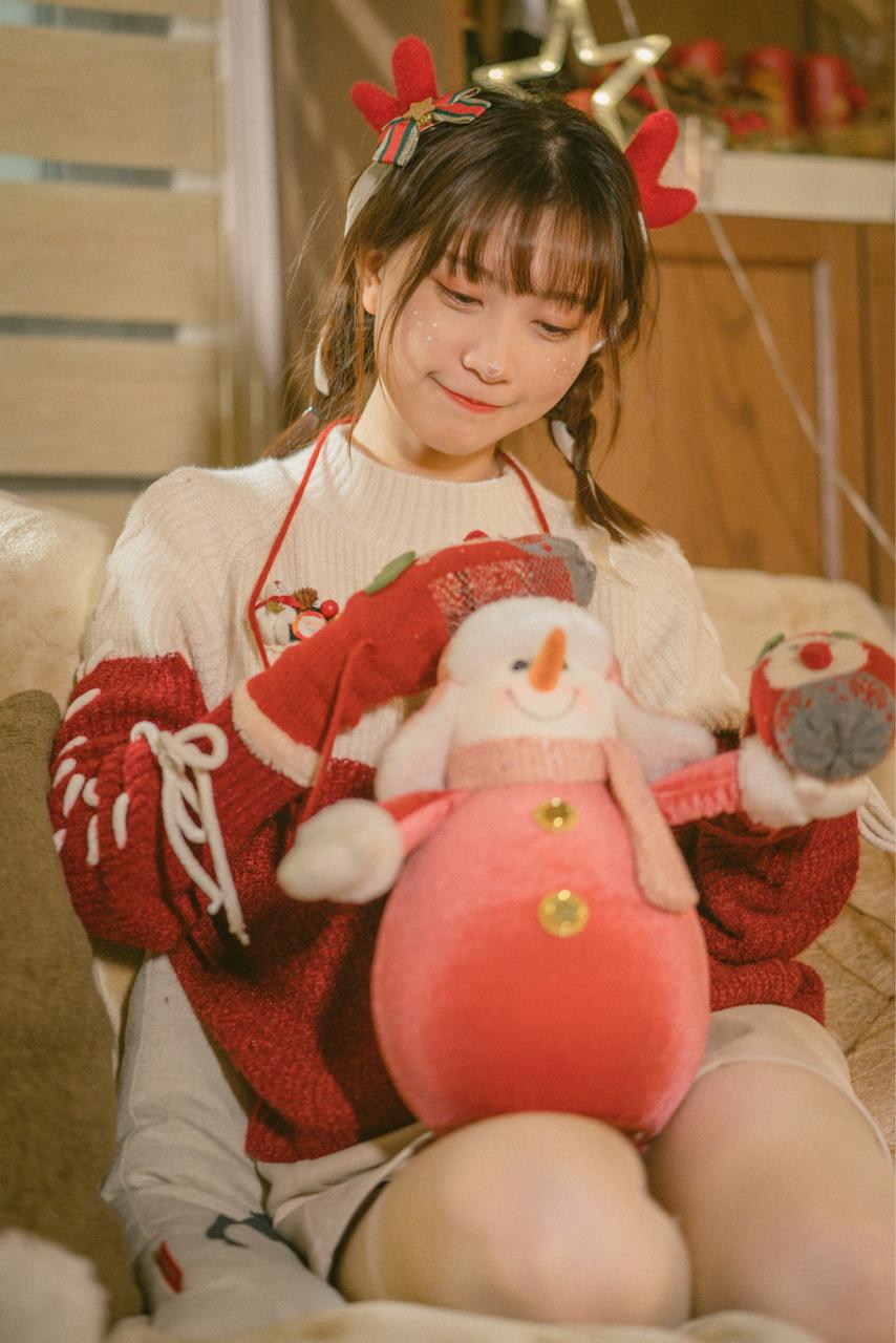 超绝可爱!bilibili美少女@醋醋cucu,来自圣诞节的驯鹿cosplay美图_图片 No.1