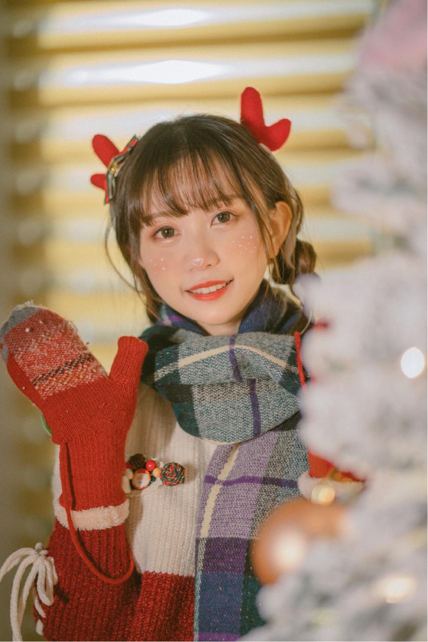 超绝可爱!bilibili美少女@醋醋cucu,来自圣诞节的驯鹿cosplay美图_图片 No.6
